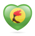 Heart icon of Zaire vector image vector image