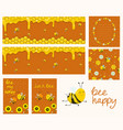 honey banners cartoon honeycombs vector image