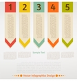 infographic arrows set vector image vector image