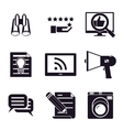 information and media web icons set vector image