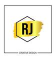 initial letter rj logo template design vector image