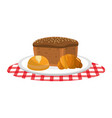 isolated breads design vector image