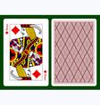 Jack of diamonds vector image vector image