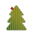 Knitted pine tree vector image vector image