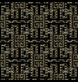 meander greek key seamless pattern black and gold vector image vector image