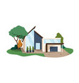 modern house building contemporary architecture vector image