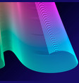 neon bright colored gradient abstract lines vector image vector image