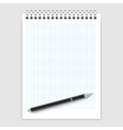 Notepad and pen vector image vector image