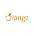 orange fruit logo design template isolated vector image