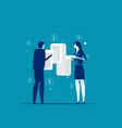 people looking long paper bills concept business vector image