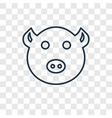 pig concept linear icon isolated on transparent vector image