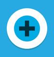 plus icon colored symbol premium quality isolated vector image