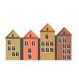 row of town houses with attics and colorful walls vector image vector image
