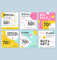 sale and discount promo backgrounds vector image