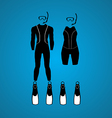 scuba summer vector image