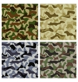 set camouflage patterns vector image vector image