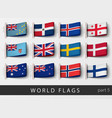 set flag labels all countries vector image vector image