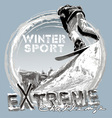 snowboard free jump vector image vector image