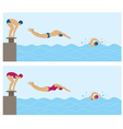 Sports Athletes Swimming vector image vector image