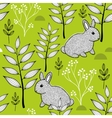 Summer pattern with cute little animals in the vector image vector image