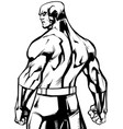 superhero back battle mode no cape line art vector image vector image