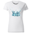 t-shirt design with water splash vector image vector image