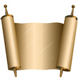 Traditional Jewish Torah Scroll vector image vector image