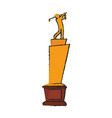 trophy golf icon image vector image vector image