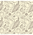 Vintage Healthy Food Sketch Pattern vector image vector image