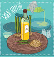 wheat germ oil used for frying food vector image vector image