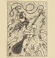 whip mystic concept for lenormand oracle tarot vector image