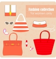 Womens fashion collection of bags and accessories vector image vector image