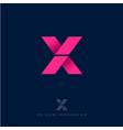x origami arrows emblem vector image