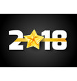 new year bright ribbon over 2018 date vector image