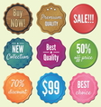 Set of badges and stickers vector image
