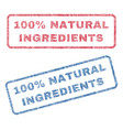 100 percent natural ingredients textile stamps vector image vector image