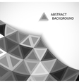 abstract background of gray triangles vector image vector image