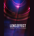 abstract background with lens flare effect poster
