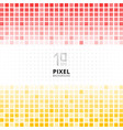 abstract pixel mosaic red and yellow gradient vector image vector image