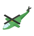 Army helicopter isometric 3d icon vector image vector image