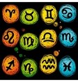astrological icon set vector image