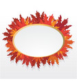 autumn leaves round label vector image vector image