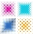 Backgrounds collection with halftone effect vector image vector image