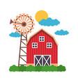 barn farm fresh vector image