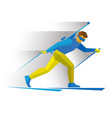 biathlon biathlete going skiing with rifle vector image vector image