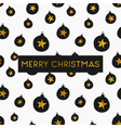 black white gold foil baubles merry christmas card vector image vector image