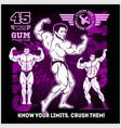 bodybuilder sportsman muscular man fitness vector image