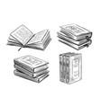 books sketch literature library concept vector image