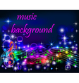 bright shiny neon background music vector image vector image