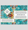 brochure design with swirls and leaves vector image vector image